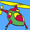 Air helicopter coloring